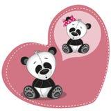 Мечтать панда иллюстрация штока