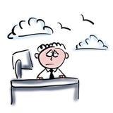 мечтать работник офиса бесплатная иллюстрация