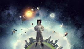 Мечтать для того чтобы исследовать космос Мультимедиа Мультимедиа Стоковые Изображения