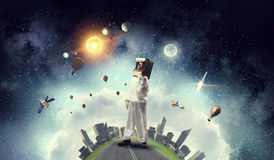 Мечтать для того чтобы исследовать космос Мультимедиа Мультимедиа Стоковое Изображение RF