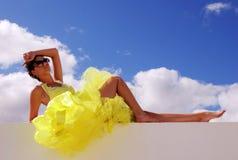 мечтая девушка милая стоковая фотография rf