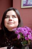 мечтая девушка милая Стоковые Фотографии RF