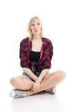 мечтая девушка подростковая Стоковое фото RF