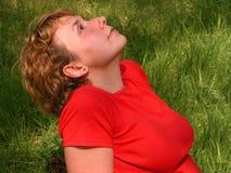 Мечтая девушка Стоковая Фотография
