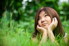 мечтая девушка стоковое изображение
