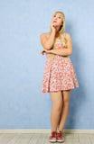 мечтая девушка милая Стоковое Фото
