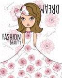 Мечта девушки красоты моды Стоковые Фотографии RF