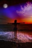Мечта на заходе солнца Стоковое фото RF
