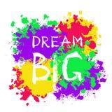 Мечта плаката Grunge мотивационная большая Стоковые Фотографии RF