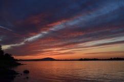 Мечта Skye Рекы Колумбия, парк Колумбии, Kennewick, штат Вашингтон Стоковые Изображения RF