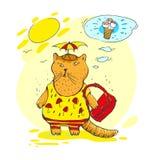 Мечты кота туристские прохлады Стоковое Фото