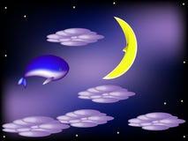 Мечты синего кита Стоковое Изображение RF