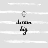 Мечт большая карточка Стоковая Фотография