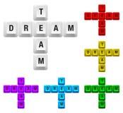 мечт ключевая команда Стоковая Фотография RF