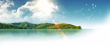 мечт остров стоковое изображение