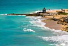 Мечт пляж на солнечном дне Стоковое фото RF