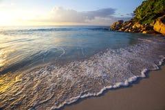 Мечт пляж - Anse Georgette Стоковое фото RF