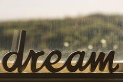 Мечт слово Стоковая Фотография