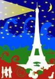 мечт Эйфелева башня иллюстрация вектора
