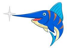 Мечы-рыб шаржа Стоковые Фотографии RF