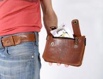 мешки мужчины пояса мешков Стоковая Фотография RF
