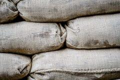 Мешки полные песка для баррикад в Никосии, Кипре стоковые изображения rf