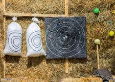 Мешки, цель и сено Стоковая Фотография RF