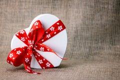 Мешковина коробки сердца Стоковое фото RF