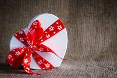 Мешковина коробки сердца Стоковая Фотография