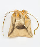 мешок золотистый Стоковая Фотография