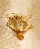 мешок золотистый Стоковые Фото