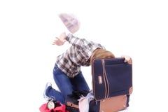 мешок ища женщину перемещения Стоковая Фотография RF