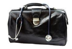 Мешок доктора с стетоскопом Стоковые Фото