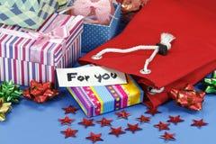 Мешок подарка и коробки подарка Стоковые Изображения RF