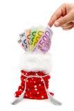 мешок представляет счет принимать дег руки подарка Стоковые Фото