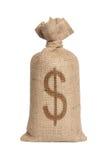 Мешок с долларами. Стоковое Изображение
