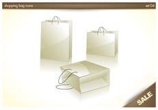 мешок 3d кладет ходить по магазинам в мешки икон подарка иллюстрация вектора