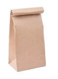 Мешок Brown бумажный изолированный на белой предпосылке Стоковое Изображение RF