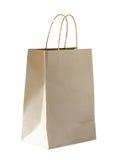 Мешок Brown бумажный изолированный на белой предпосылке Стоковая Фотография RF