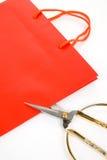 мешок scissor покупка стоковые изображения
