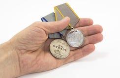 Медали на ладони Стоковая Фотография RF