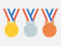 Медали vector комплект иллюстрация штока