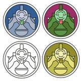 медальон Стоковые Изображения RF