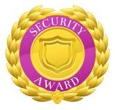 Медаль лаврового венка победителя безопасностью золота иллюстрация штока