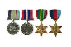 Медаль австралийца Второй Мировой Войны Стоковые Изображения