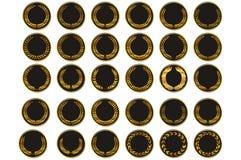 Медаль вектора черное бесплатная иллюстрация
