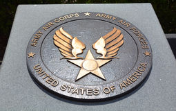 Медаль памятника Второй Мировой Войны Стоковые Изображения