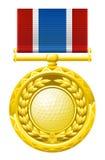 Golf медаль иллюстрация вектора