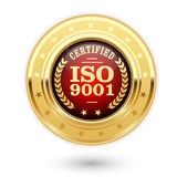 Медаль ISO 9001 аттестованное - система управления качеством Стоковое Фото