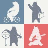 Медведи потехи знака Стоковая Фотография